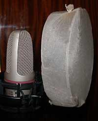 Самодельный pop фильтр для микрофона из чулка